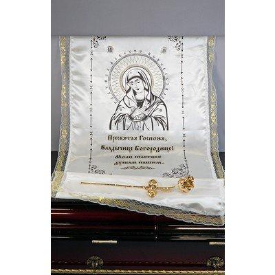 Комплект печать глиттер «Богородица»