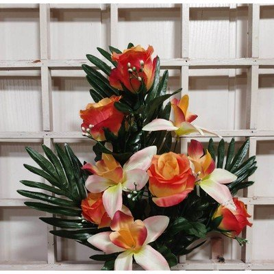 Б55 Букет роз и орхидей 9 голов 55 см