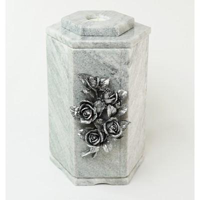 "Урна для праха ""Розы"" из серого мрамора"