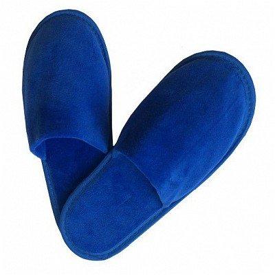 Тапочки велюр синие