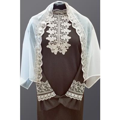 Платье Элит-2 с шарфом коричневое