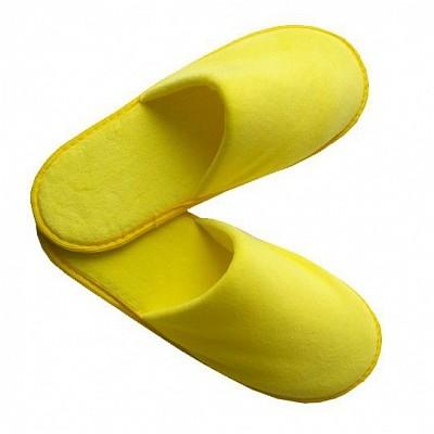 Тапочки велюр желтые