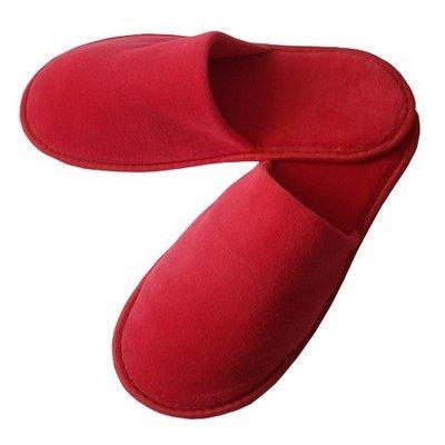 Тапочки велюр красные