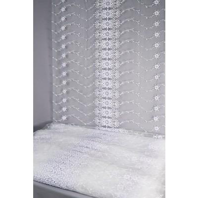 Полотно вуаль с вышивкой белое 59 см (вид 2)