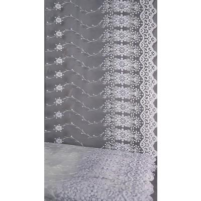 Полотно вуаль с вышивкой белое 42 см (вид 3)