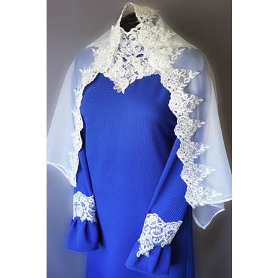 Платье Элит-2 с шарфом синее