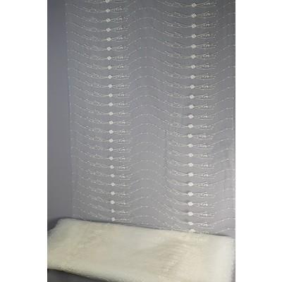 Полотно вуаль с вышивкой молочное 85 см (вид 2)