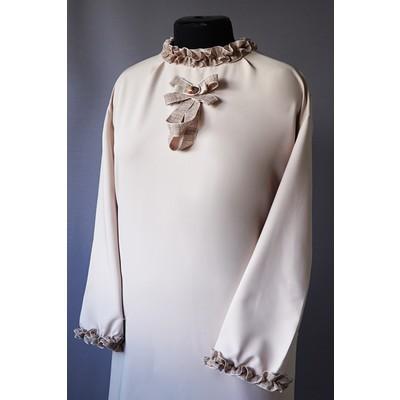Платье ткань Мемори с бантом