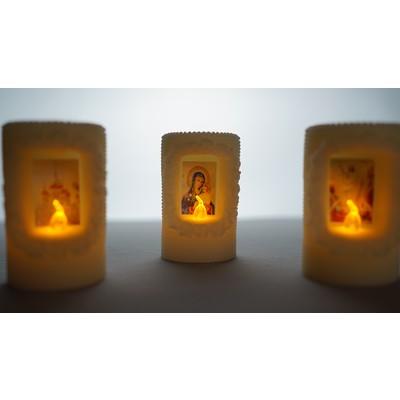 LED лампада с декором 8,5 см
