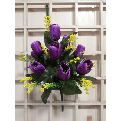 Букет тюльпанов 9 голов 35 см