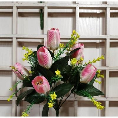 Б14 Букет тюльпанов 9 голов 34 см