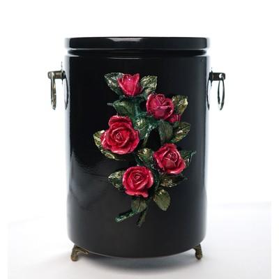 """Урна для праха глянцевая """"Букет роз"""""""