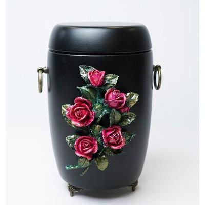 """Урна для праха матовая """"Букет роз"""""""