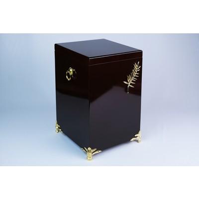 Урна черная лакированная с декором