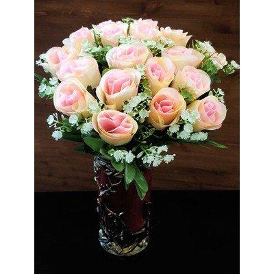 Б174 Букет бутонов роз с добавками 18 голов