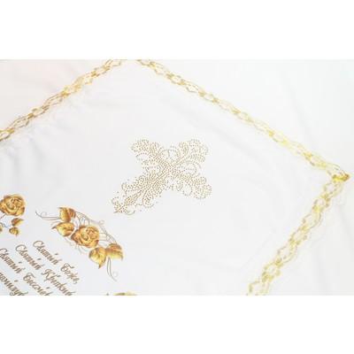 Комплект габардин с шифоном «Золотые розы»