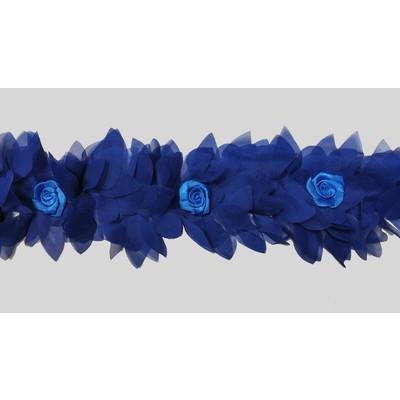Тесьма «Болеро» шифон синий 10 см