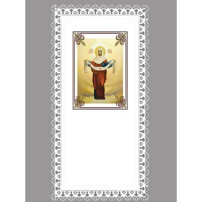 Покрывало «Богородица Покров» резной край