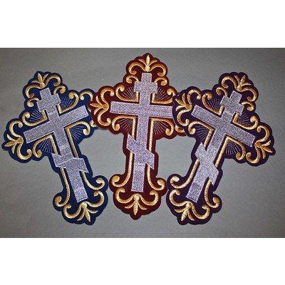 Термоаппликация Крест «Ажурный» большой