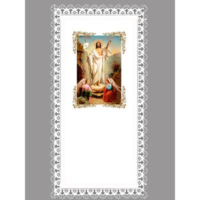 Покрывало атлас «Воскресение Христово» резной край