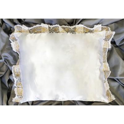 Подушка атлас с кружевом