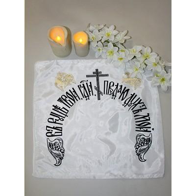 Чехол на подушку церковный шелк с золотым тиснением