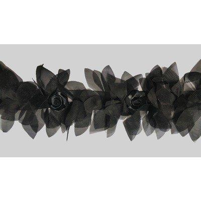 Тесьма «Болеро» 10 см шифон черный