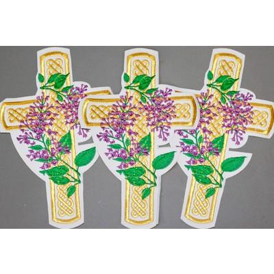 Термоаппликация Крест «Кельтский с сиренью»