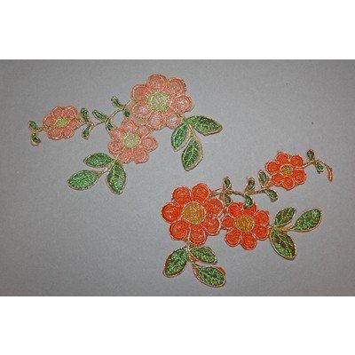 Термоаппликация «Цветок с люрексом» (4 цвета)