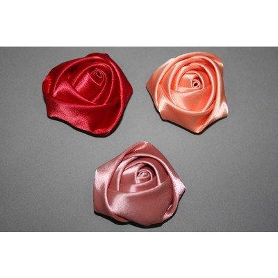 Роза объемная атлас 2,4,6 см