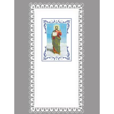 Покрывало атлас «Иисус» резной край