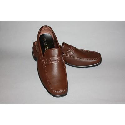 Туфли мужские кожзам коричневые