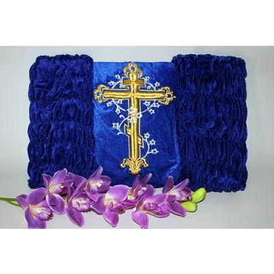 Обивка бархат «Крест»