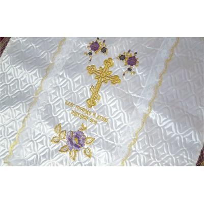 """Комплект """"Крест с цветами"""" цветное"""