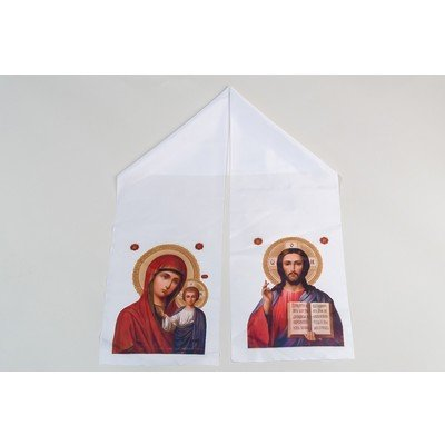 Рушник на икону шелк 24 см