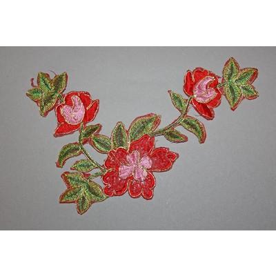 Термоаппликация «Цветок с ветками» (5 цветов)
